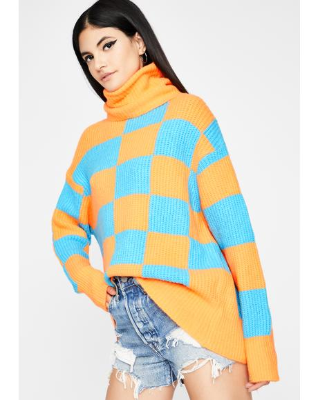 Totally Psyched Turtleneck Sweater
