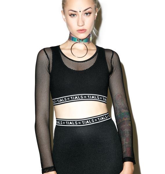 This Is A Love Song Sporty Mesh Crop Top