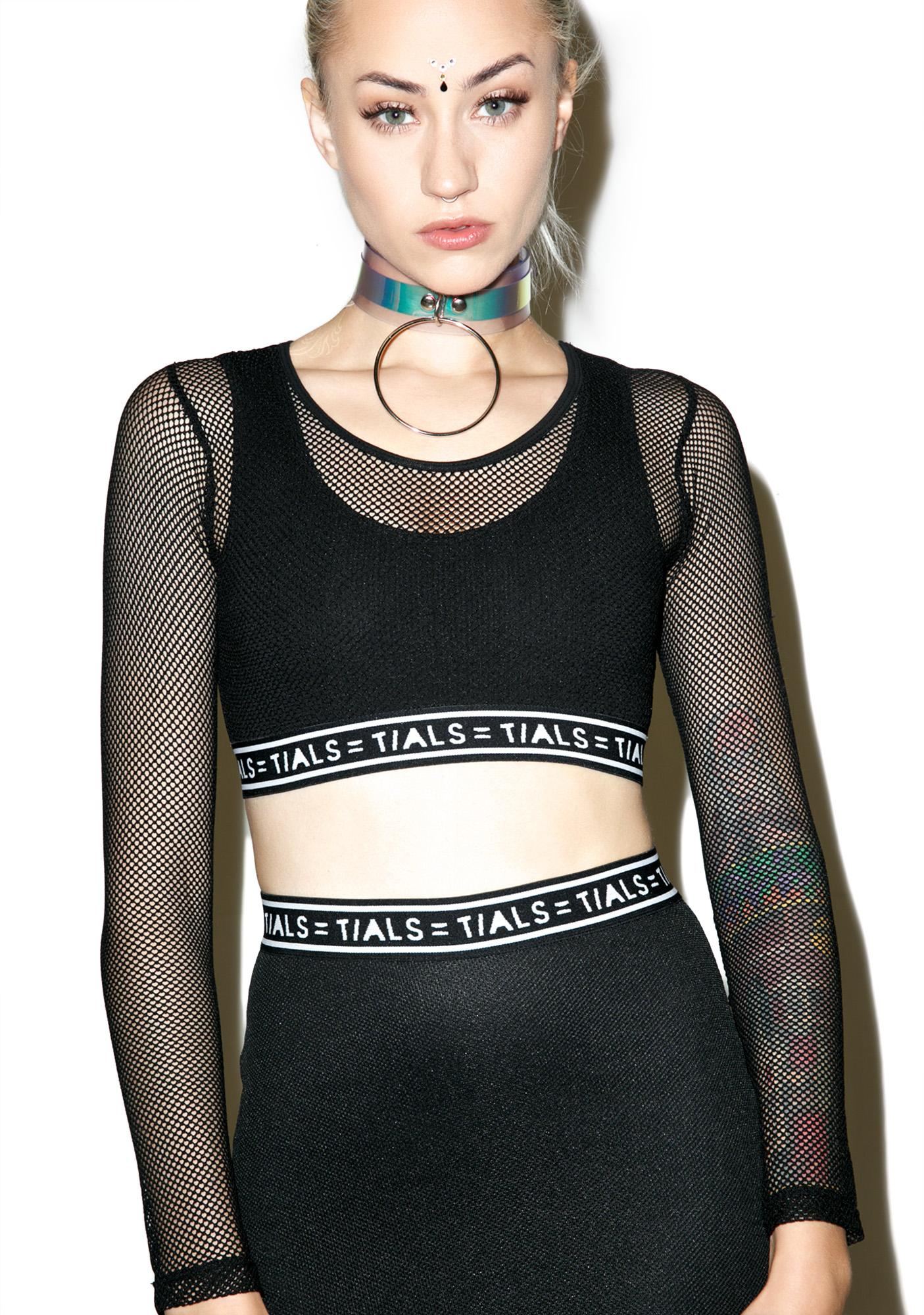 ade953c6b5cb8 This Is A Love Song Sporty Mesh Crop Top