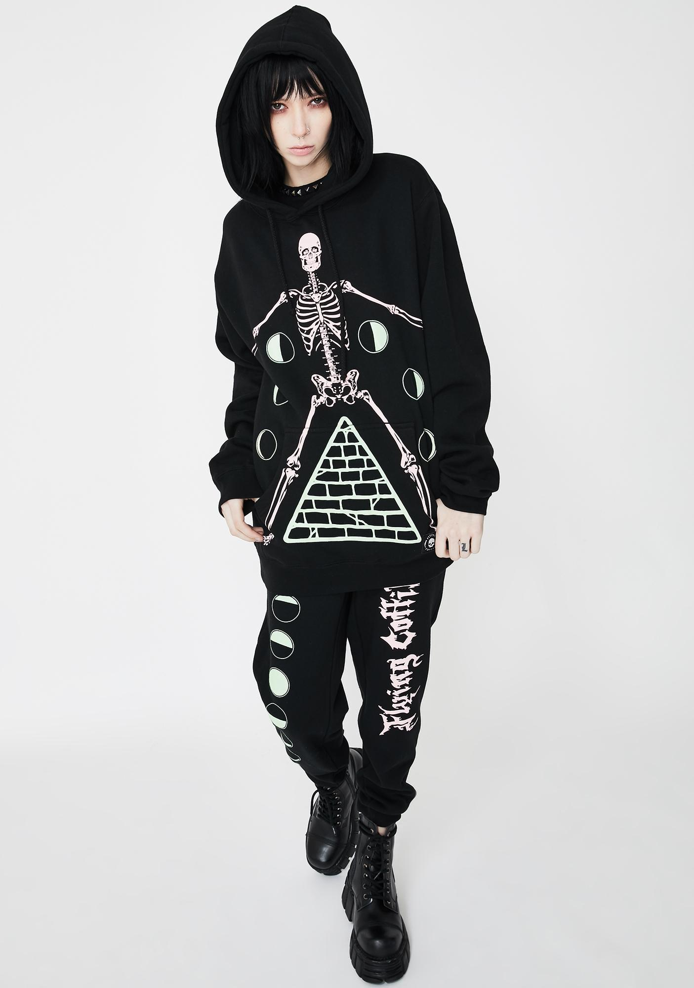 Flying Coffin Phases Graphic Pullover Hoodie