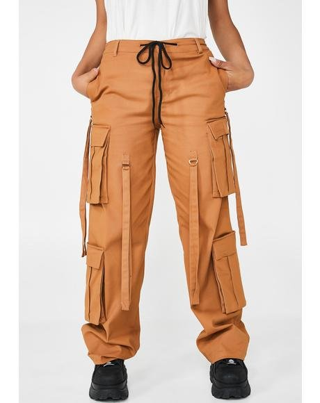 Tan Total Magnetism Cargo Pants