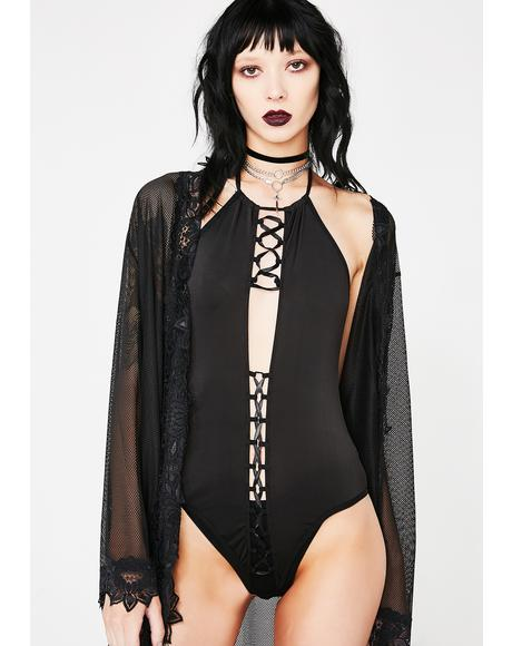 Blood Moon Lace Up Bodysuit
