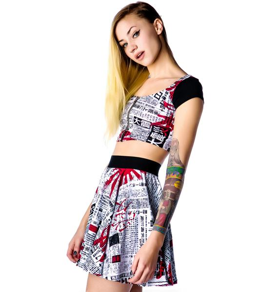Lip Service Japanese Printed Crop Top
