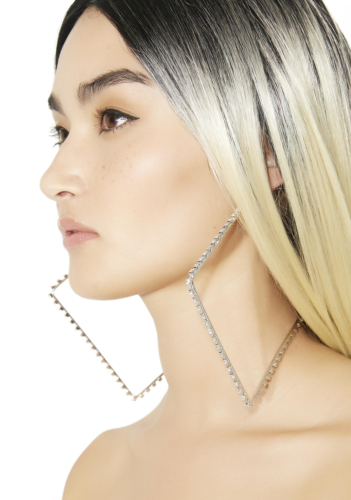 Xtravaganza Rhinestone Hoop Earrings