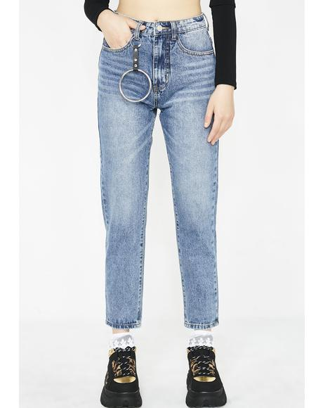 O-Ring Mom Jeans