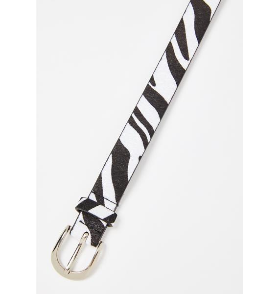 Wild Journey Zebra Belt