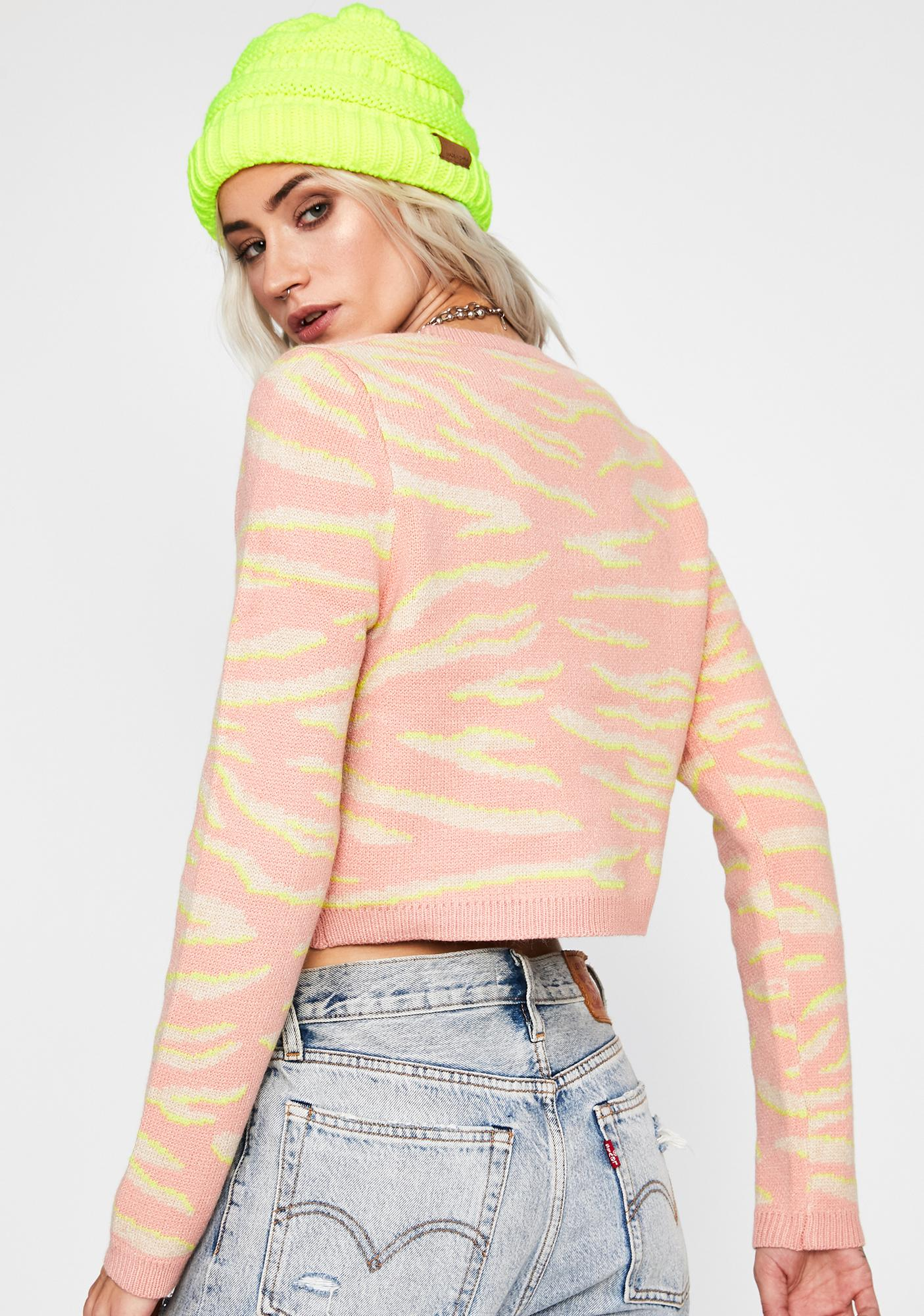 Wild Obsession Cropped Sweater