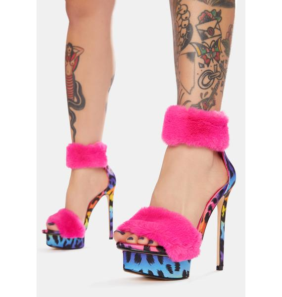 Lemon Drop by Privileged Hot Pink Bambam Heels