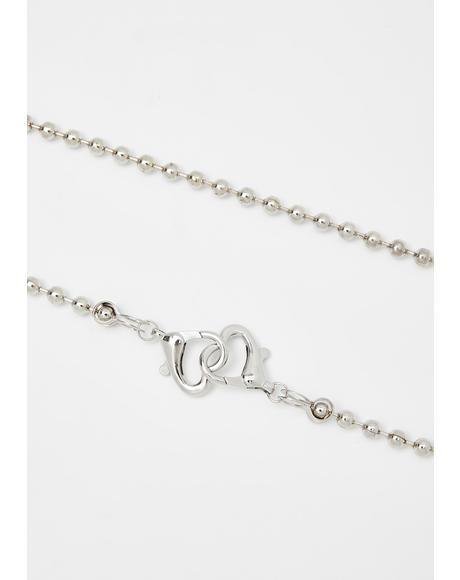 No Heartstrings Ball Chain Necklace