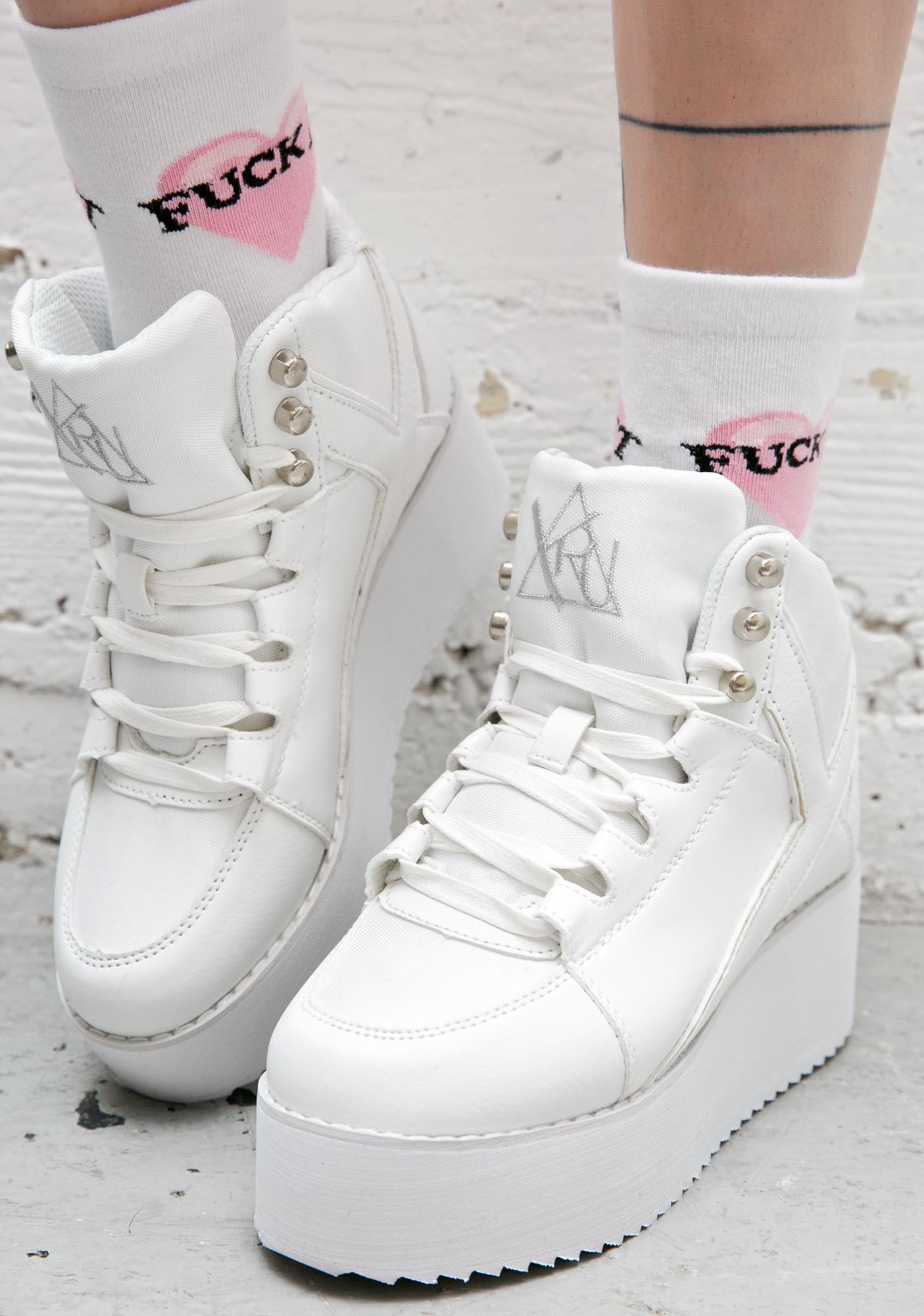 Y.R.U. Qozmo Low Key White Platforms