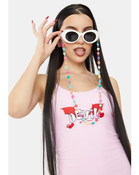 Candy Hearts Sunglasses Chain
