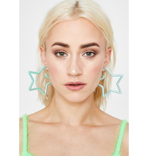 Helix Hologram Star Earrings