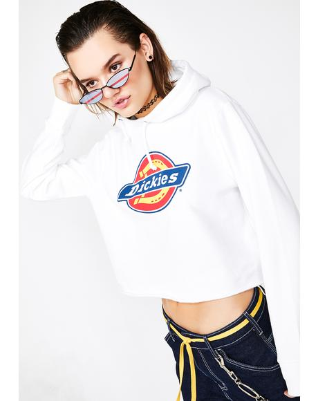 Icy Icon Logo Cropped Hoodie