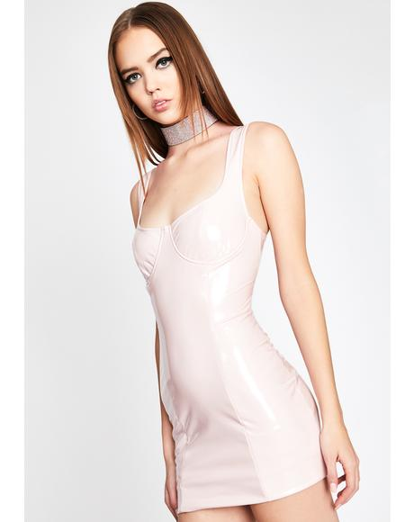 Blush Mistress Domme Vinyl Dress