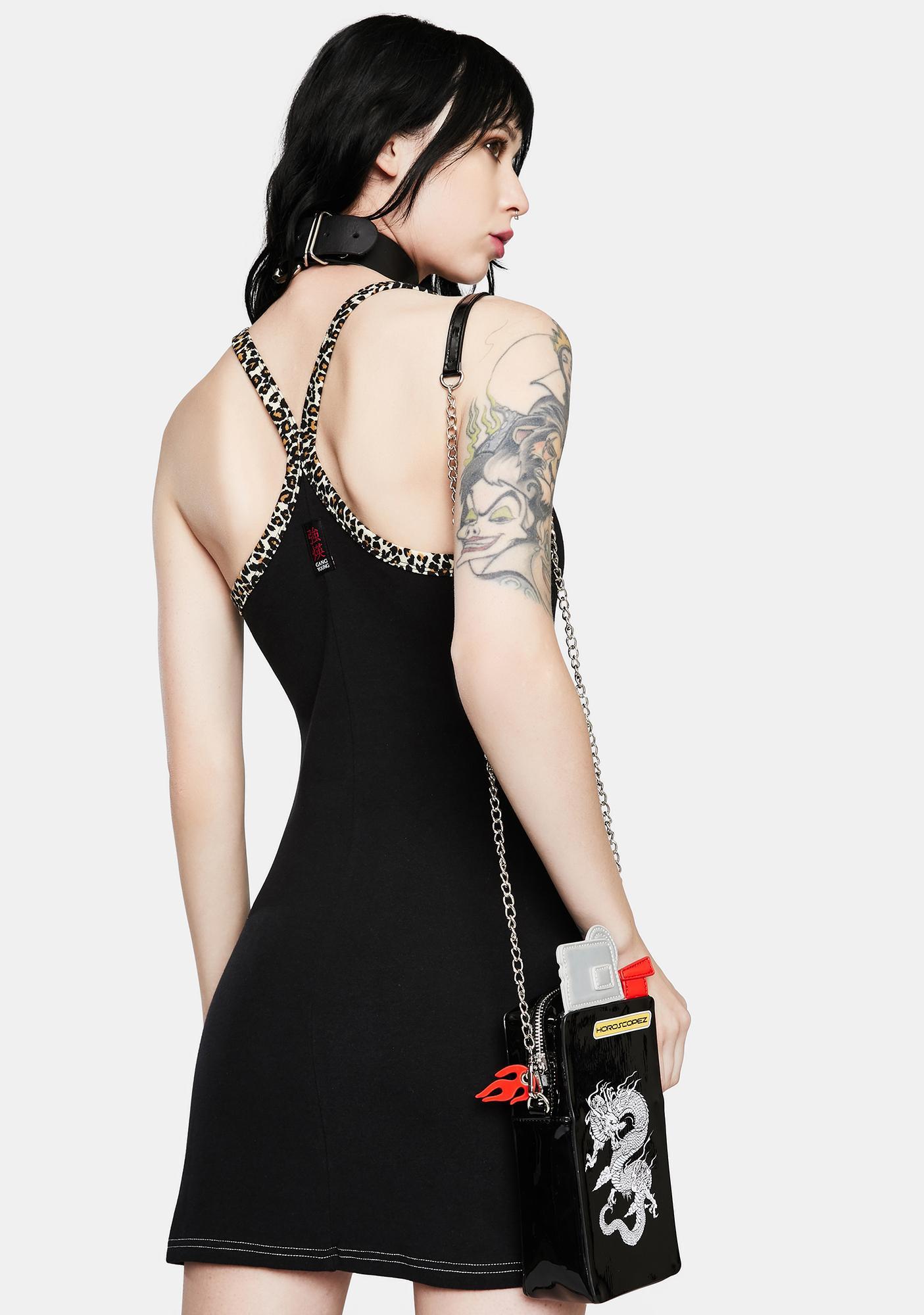 GANGYOUNG Black Koi Tank Dress