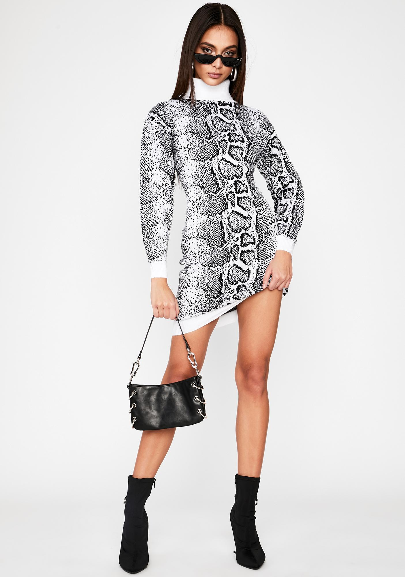 Intoxicated Twist Sweater Dress