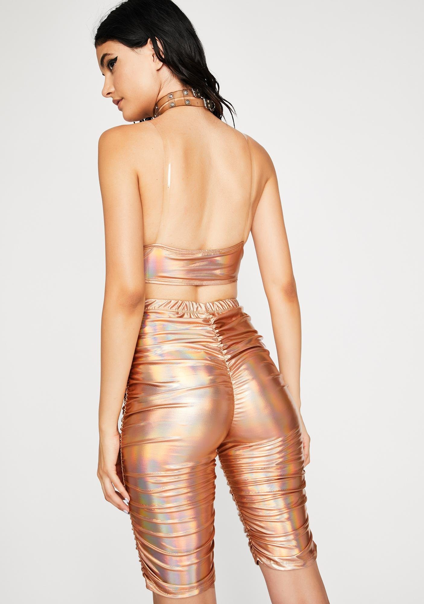 Gold Ripple In Time Holographic Set