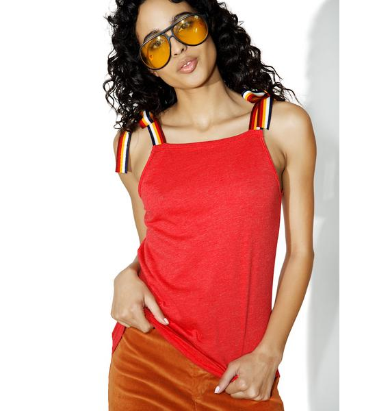 Camp Collection Rainbow Strap Square Neck Cami