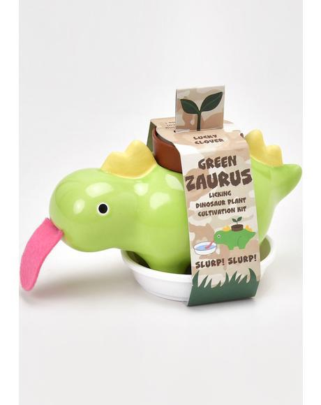 Green Zaurus Dinosaur Mini Plant