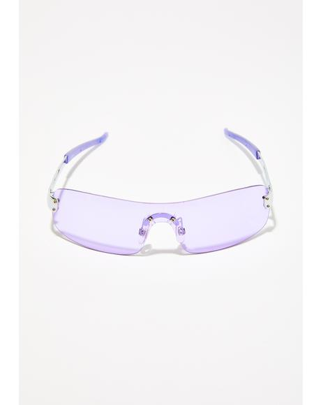 Jaded Gaze Shield Sunglasses