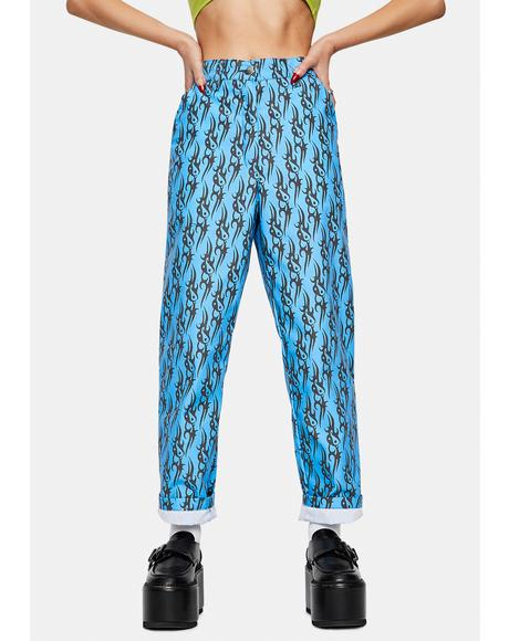 Tribal Love Blue Pants