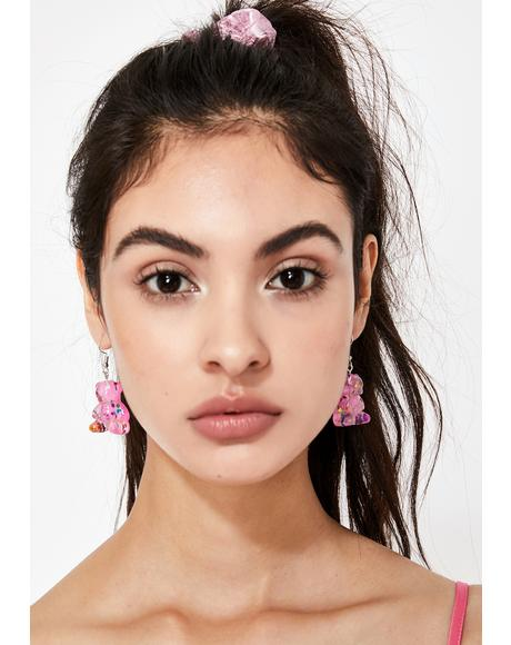 Sugar Rushin' Gummy Bear Earrings