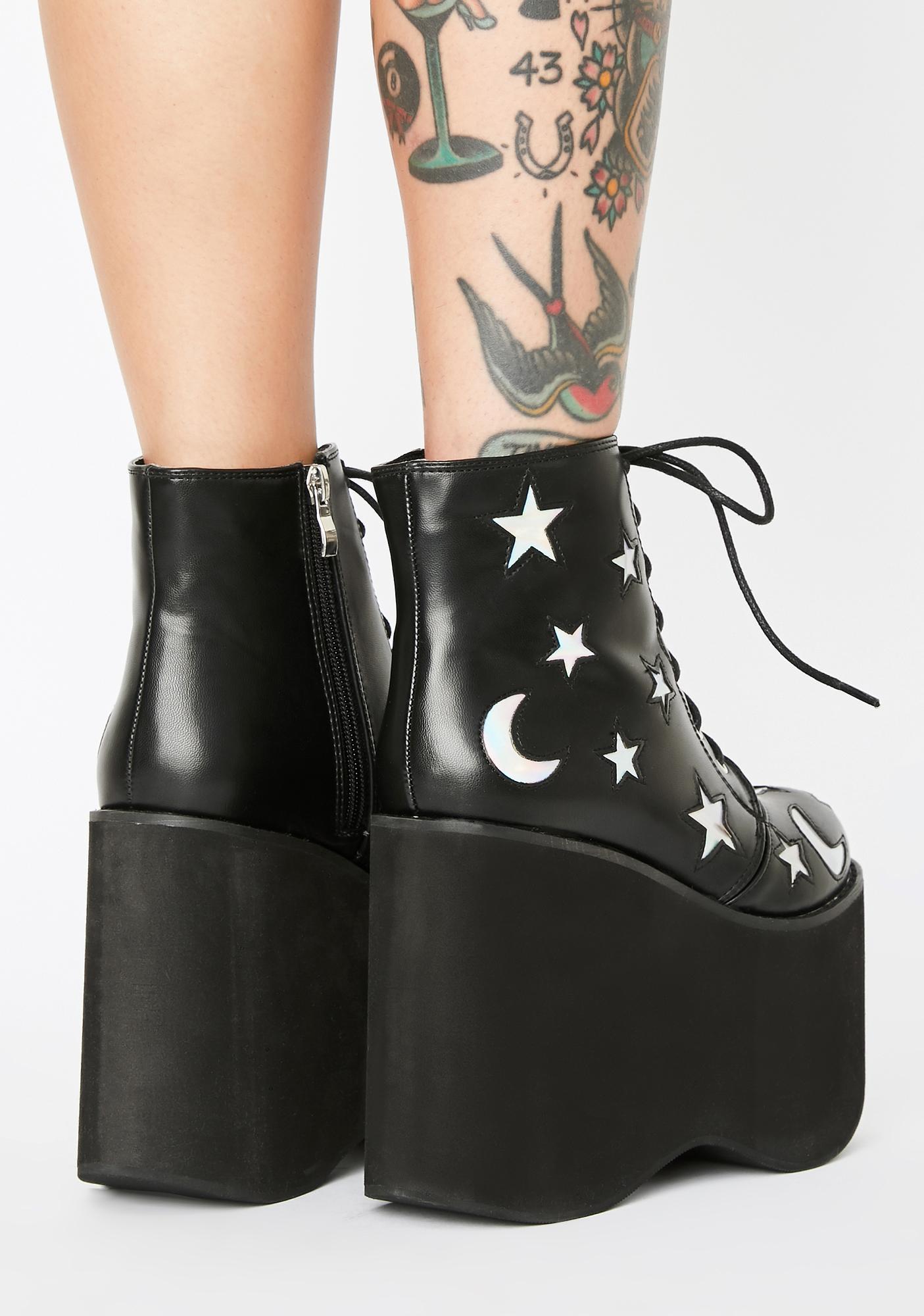 Cosmic NightWalker Platform Boots