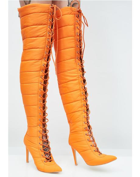 Fire Street Cred Over The Knee Boots