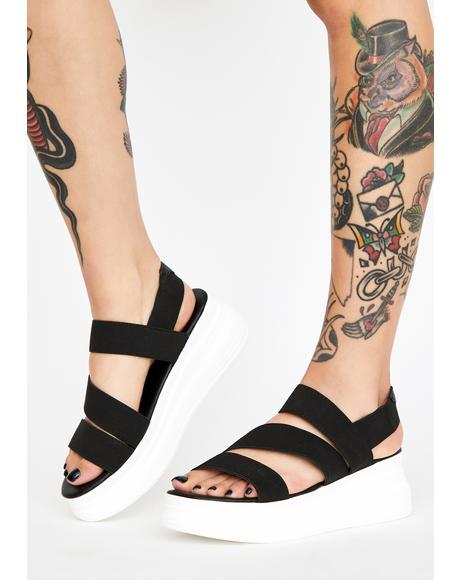 OMW Platform Sandals