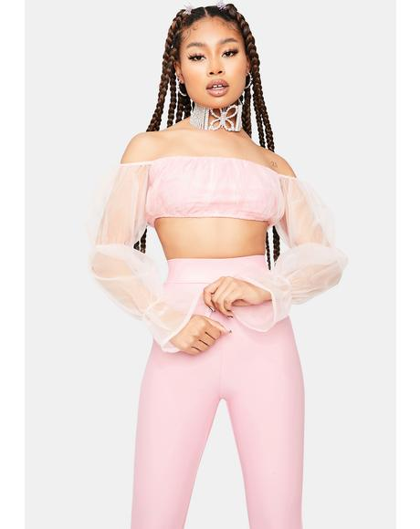 Blush Having A Ball Off The Shoulder Organza Top Set