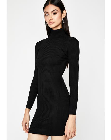 U Could Never Sweater Dress