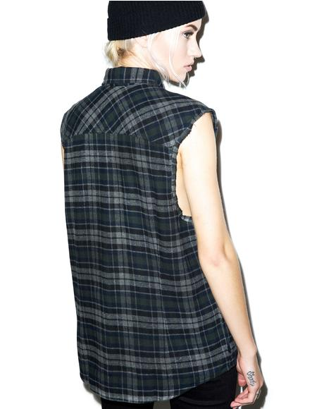 Sleeveless Flannel