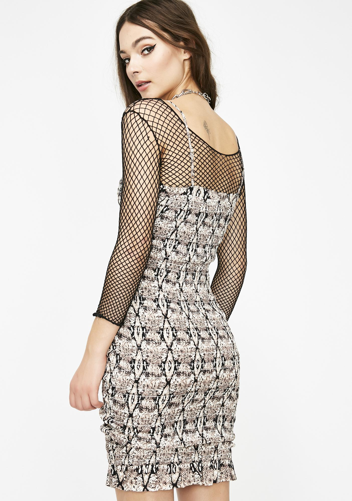 Snakes On A Babe Ruched Dress