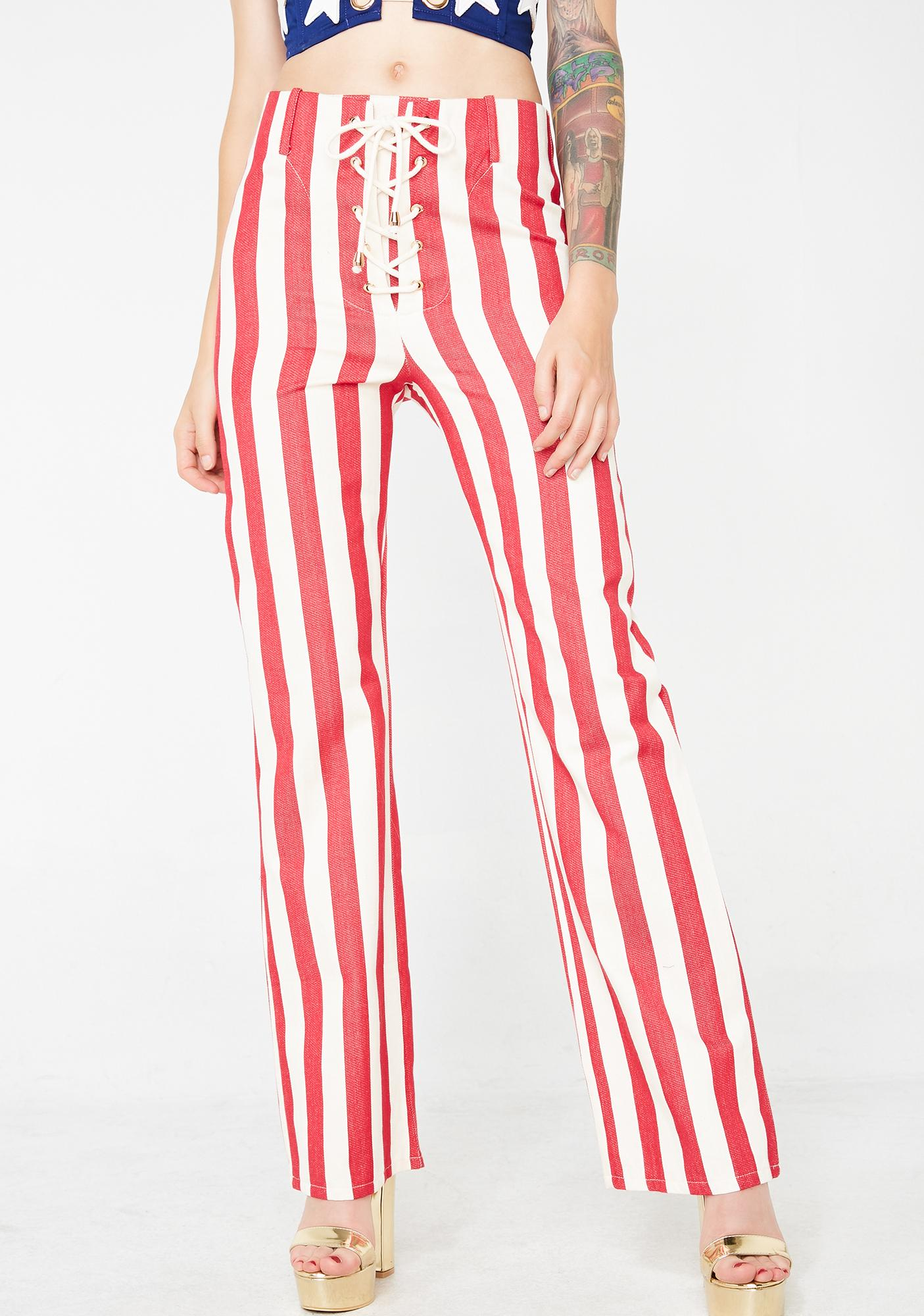 Jagger & Stone The Thelma Striped Pants