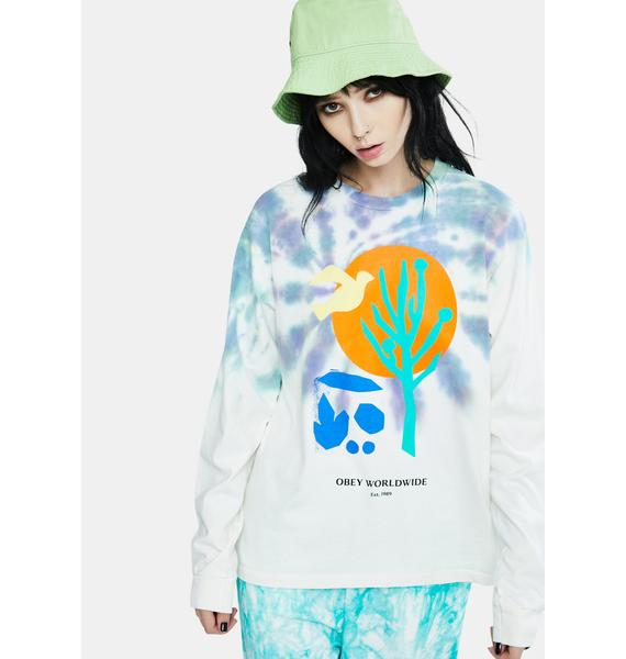 Obey Cactus Graphic Long Sleeve Tee