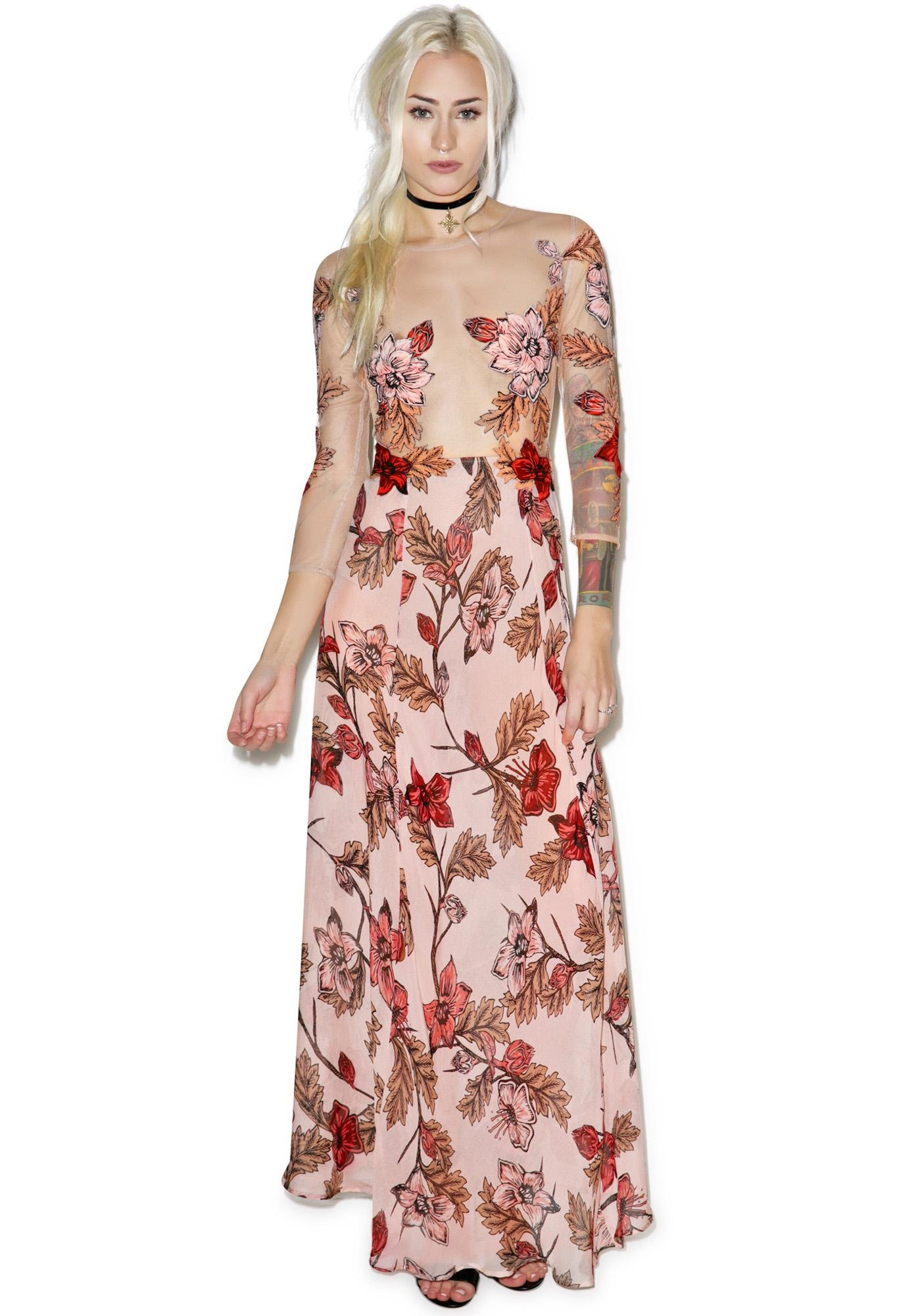 For Love & Lemons Sierra Maxi Dress