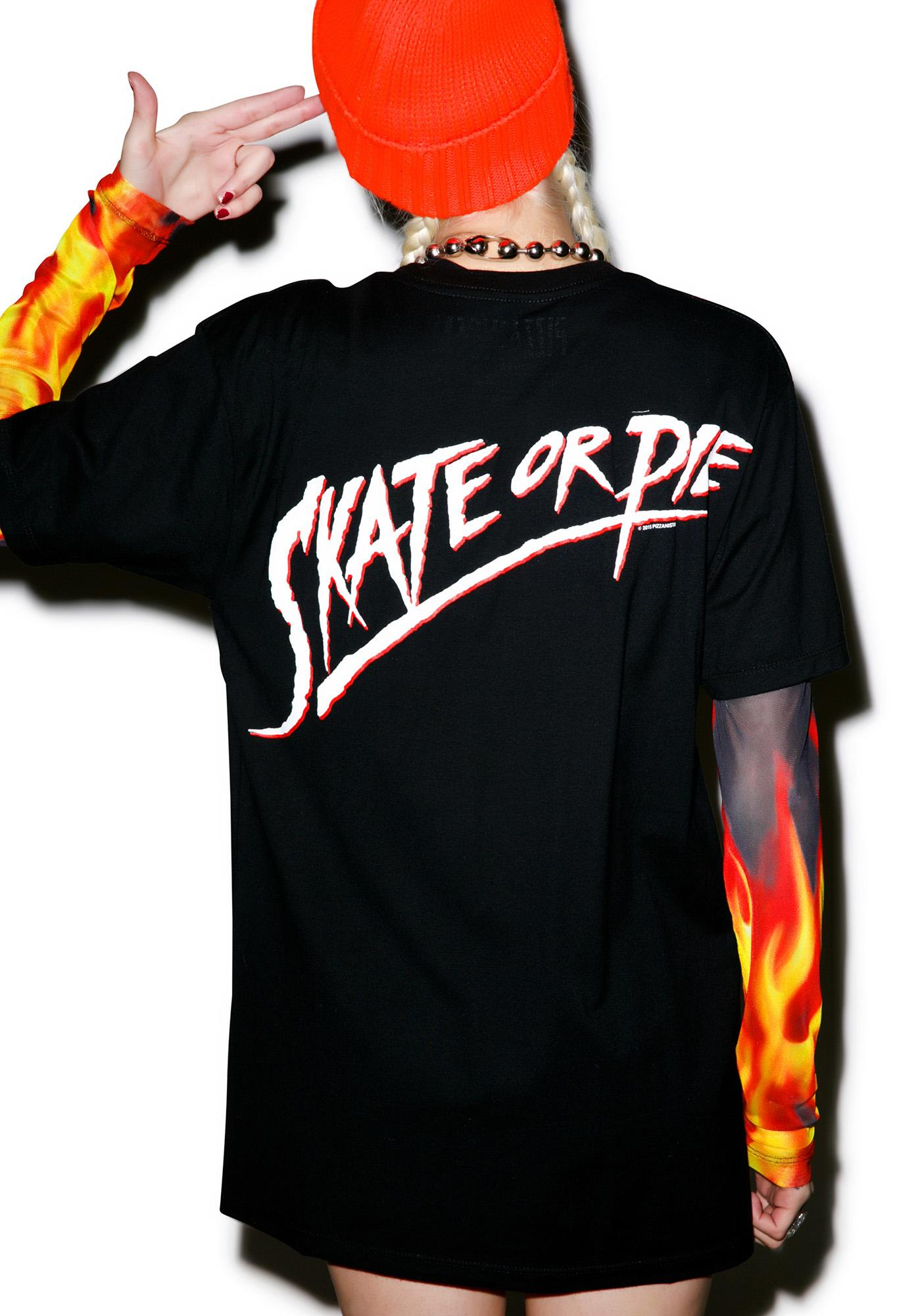 Pizzanista Skate Or Pie Tee