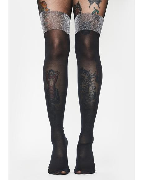 Posh Diva Glitter Tights