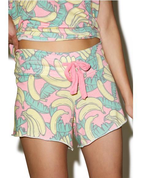 Banana Print Cutie Shorts