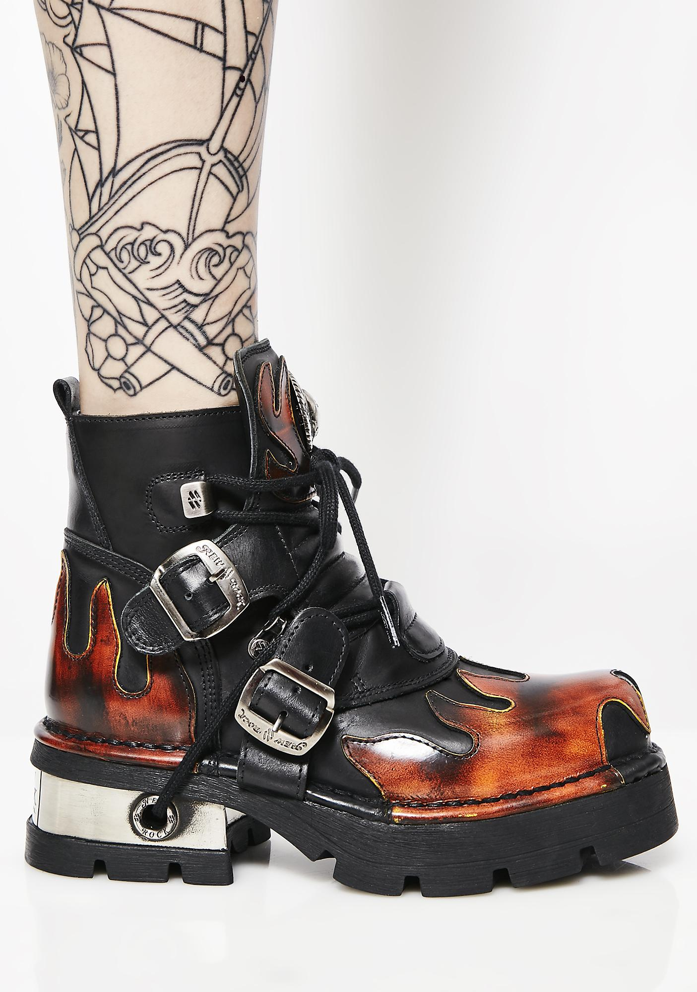 New Rock Let'z Blaze Ankle Boots