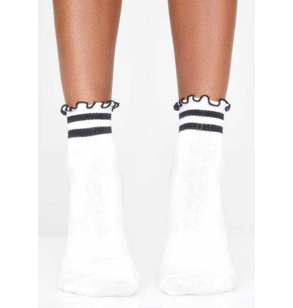 Team Cutie Ruffled Socks