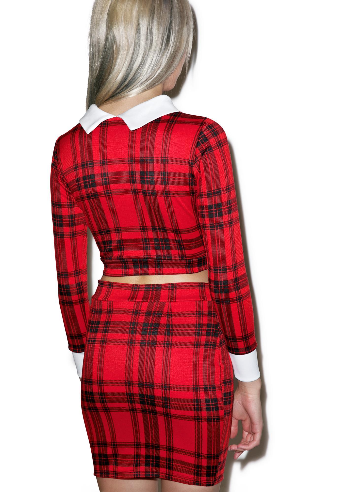 Plaid Skirt Set 29
