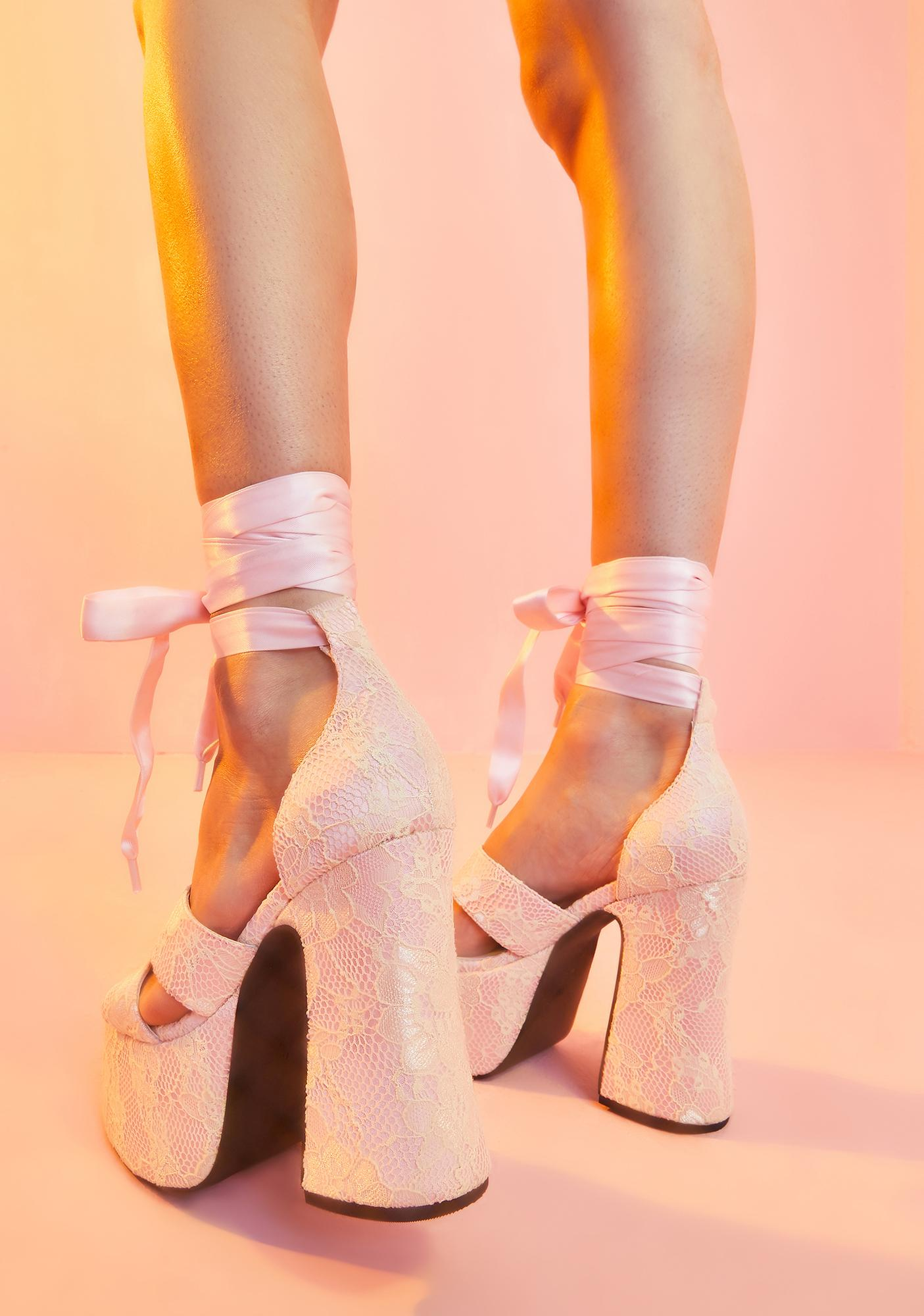 Sugar Thrillz Remember My Name Platform Heels