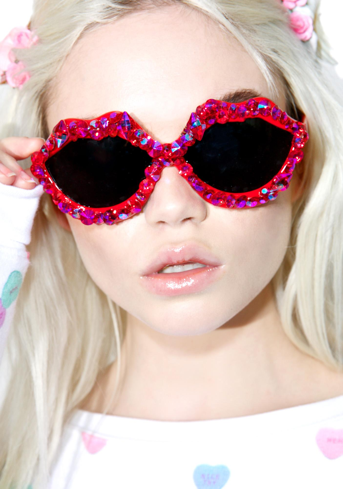 Gasoline Glamour Loud As Hell Hot Lips Glasses