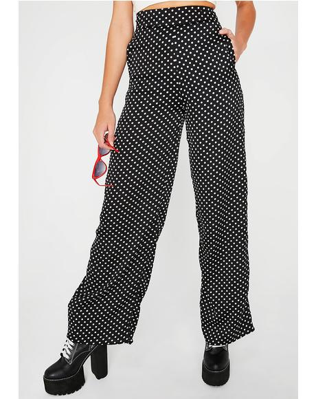 Polka Dot Boss Lady Wide Leg Pants