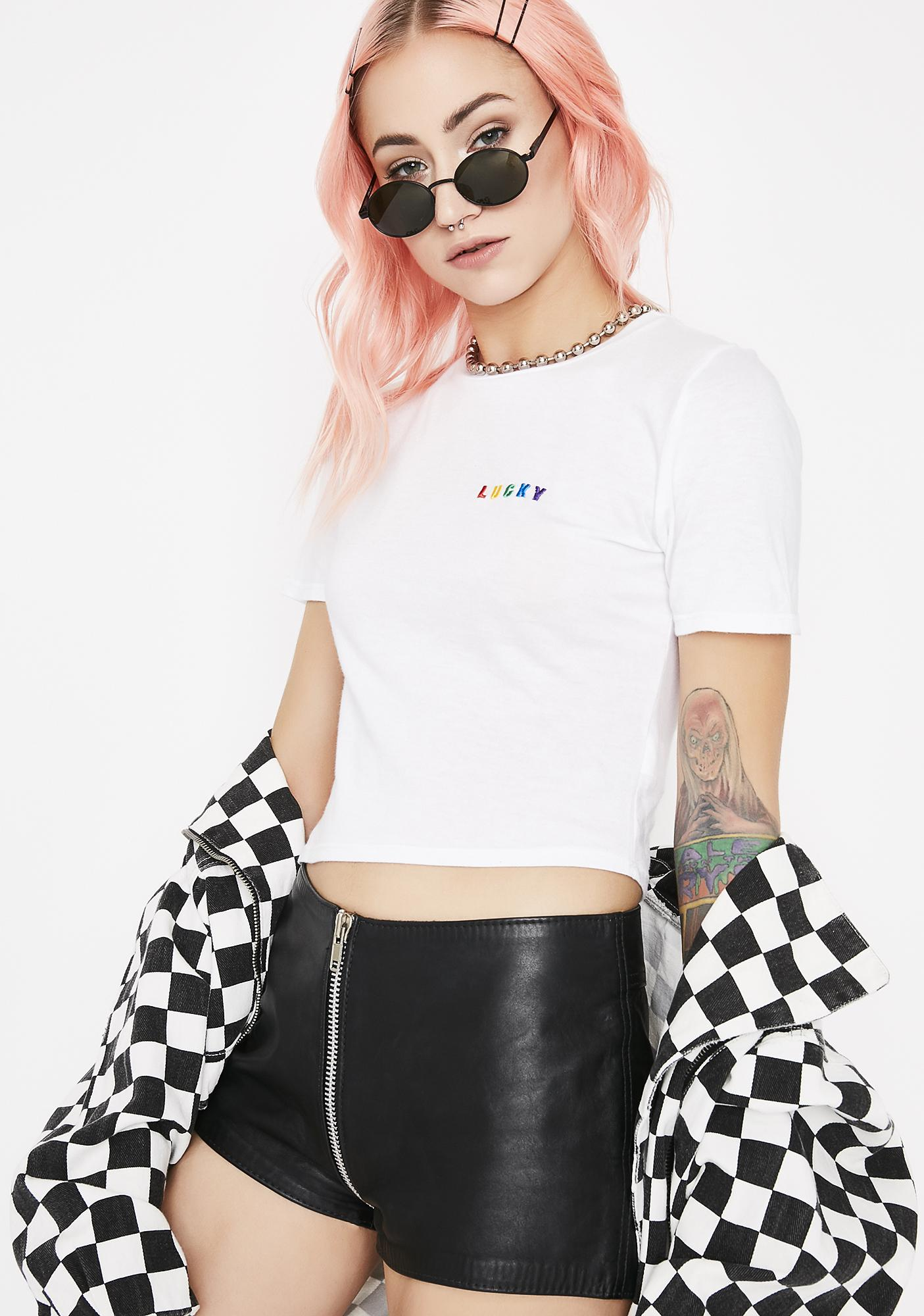 Lady Luck Crop Tee