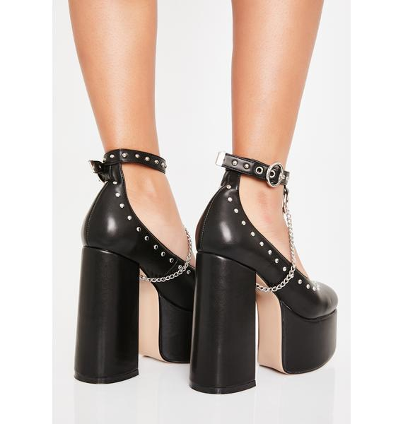 Lamoda Wicked Spitfire Mary Jane Platform Heels