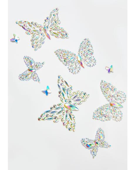 Stay Fly Butterfly Body Stickers