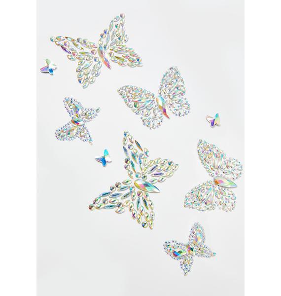 Lunautics Stay Fly Butterfly Body Stickers