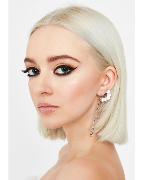Glamour Mission Rhinestone Cuff Earrings
